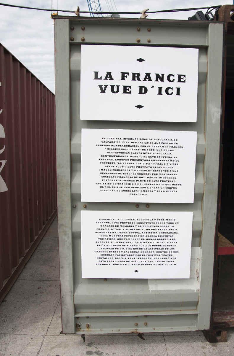 Inauguración de la exposiciones La France Vue D' ici en Valparaíso, FIFV 2016. ©Daniel Villagran