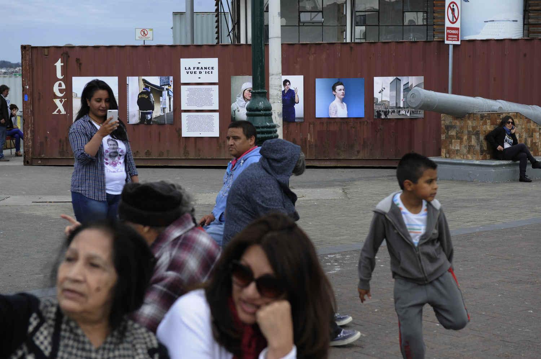 Inauguración de la exposiciones La France Vue D' ici en Valparaíso, FIFV 2016. ©Victor Ruiz Caballero